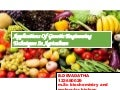 Applications of genetic engineering  techniques in agriculture byB. DEVADATHA