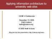 Applying information architecture t...