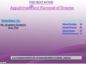 Appointment and removal of director