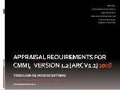 Appraisal Requirements For CMMI