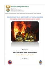 Approved discussion paper on fire s...