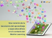 Apps educativas y taxonomía del aprendizaje en Mobile Learning
