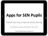 Apps for Pupils With Special Educational Needs (SEN)