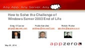 How to Solve the Challenge of Windows Server 2003 End of Life