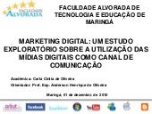 Marketing Digital: Um estudo explor...