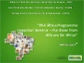 PAA Africa Programme Inception Workshop - Brazilian Ministry of Social Development presentation