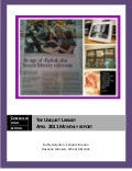 April 2011 The Unquiet Library Monthly Report