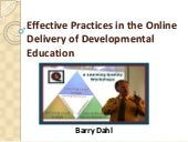 Effective Practices in the Online Delivery of Developmental Education