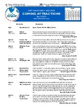 FMWR Coming Attractions 9 April