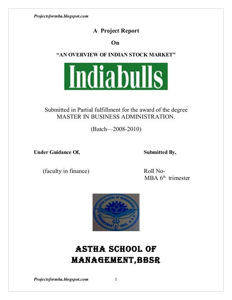 Dissertation global stock markets