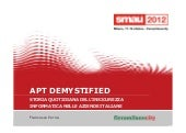 APT DEMYSTIFIED - STORIA QUOTIDIANA...