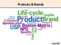 Marketing - Products and Brands