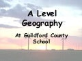 AQA Geography A level