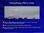 Wintertime PM in Utah (Air Quality)