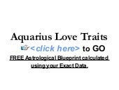 Aquarius Love Traits