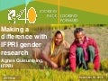 Making A Difference With IFPRI Gender Research