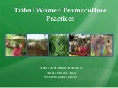 Aranya permaculture women tribal