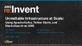 Infrastructure at Scale: Apache Kafka, Twitter Storm & Elastic Search (ARC303) | AWS re:Invent 2013