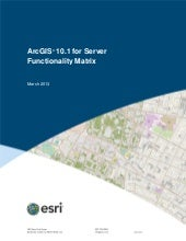ArcGIS 10.1 for Server Functionalit...