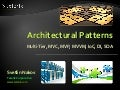 Architectural Patterns and Software Architectures: Client-Server, Multi-Tier, MVC, MVP, MVVM, IoC, DI, SOA, Cloud Computing