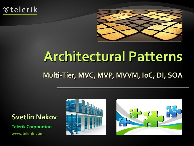Pattern Architecture Software Architectural Patterns And