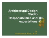 Architectural design studio   responsibilities and expectations