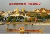 Architecture in Thailand