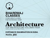 Architecture nata jee top colleges ...
