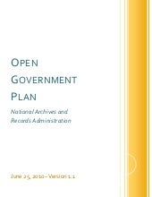 NARA Open Gov Plan