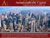 ARC New York Recovery Reit Presenta...