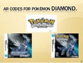 AR Codes For PokéMon Diamond