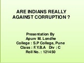 Are Indians Really Corrupted ?