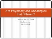 Are polyamory and cheating all that...