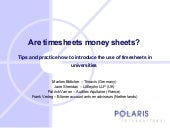 Are timesheets money sheets by Fran...