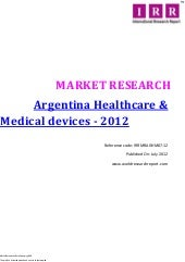 Argentina healthcare and medial dev...