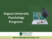 Argosy University Psychology Programs
