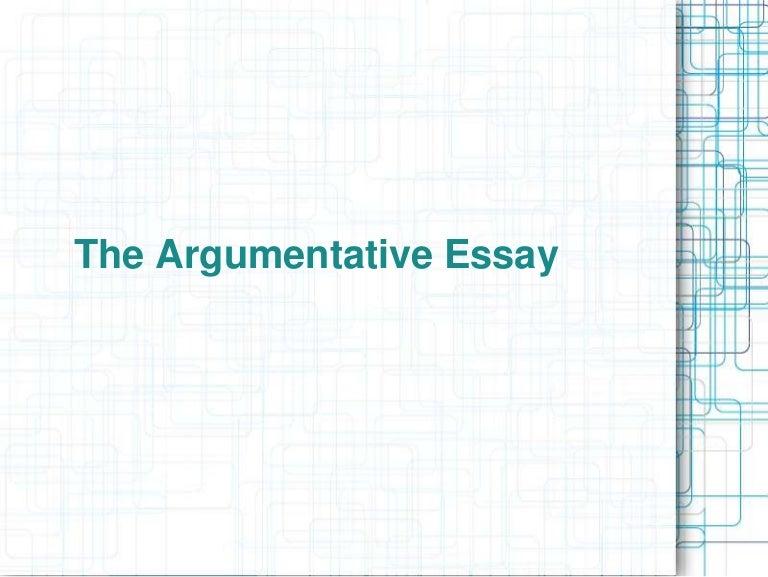 Writing an argumentative essay powerpoint