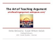 The Art of Teaching Argument