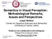 Semantics in Visual Perception: Me...