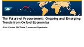 The Future of Procurement:  Ongoing and Emerging Trends from Oxford Economics [Singapore]