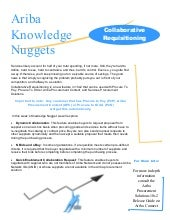 Ariba Knowledge Nuggets - Procureme...