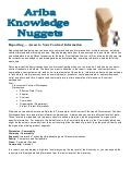 Ariba Knowledge Nuggets - Reporting in Contract Management