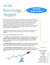 Ariba Knowledge Nuggets - Services ...