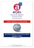 ARJEL_General presentation of the French technical regulation system_english version 2013
