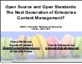 Open Source and Open Standards for Information and Records Managers