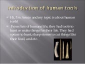 Armin early humans tools