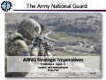 Arng strategic imperatives slides, initial field distro, 14 sep 12