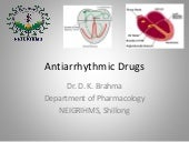 Antiarrhythmic drugs - drdhriti