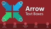 Arrow Text Boxes Editable PPT