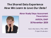 Assessment: The Shared Data Experience